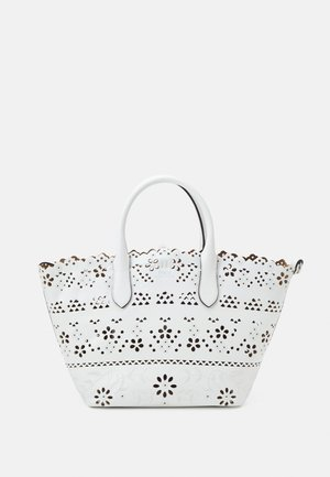 EYELET OPEN TOTE - Shopping Bag - white