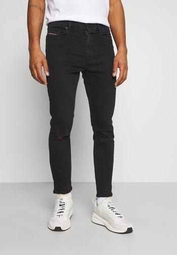 D-AMNY-Y - Slim fit -farkut - washed black