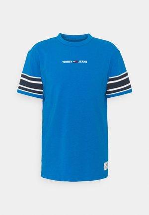 CONTRAST SLEEVE DETAIL TEE - Print T-shirt - liberty blue