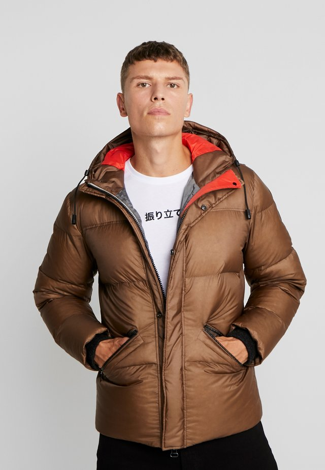 REGULAR FIT - Down jacket - sepia tint