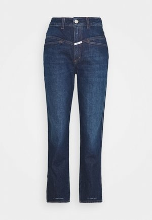 PEDAL PUSHER - Jeansy Straight Leg - dark blue