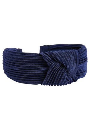 NAVY STRIPE CORD HEADBAND - Hair styling accessory - blue