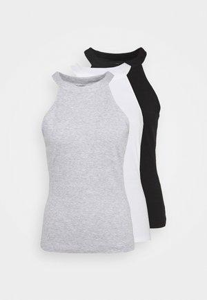 3 PACK - Topper - black/white/light grey