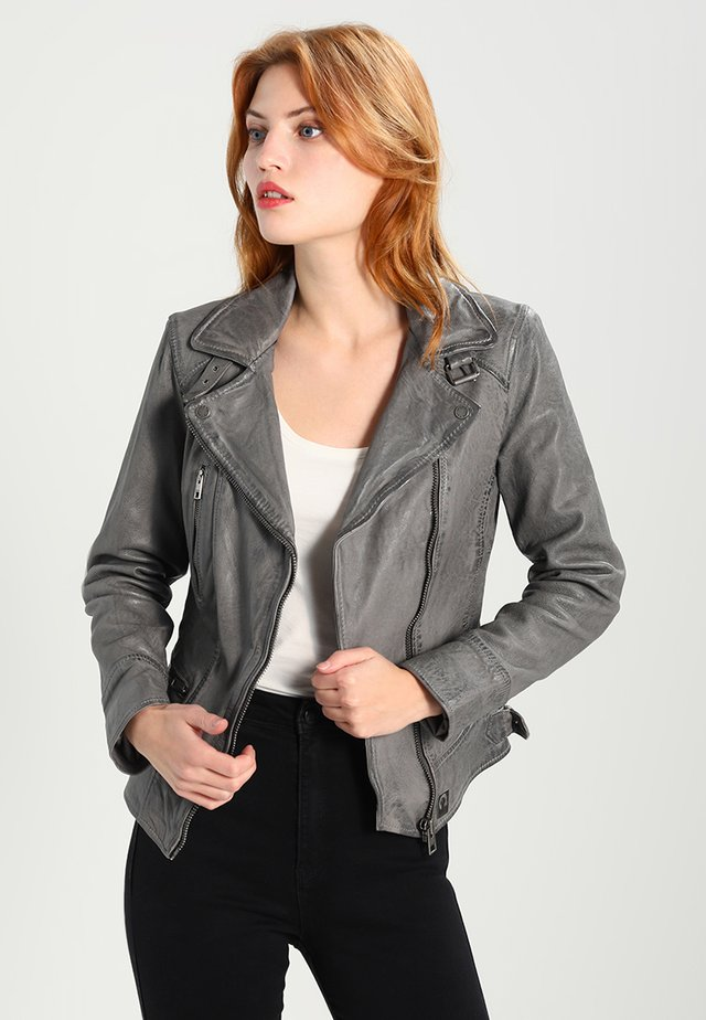 VIDEO - Leather jacket - anthracite