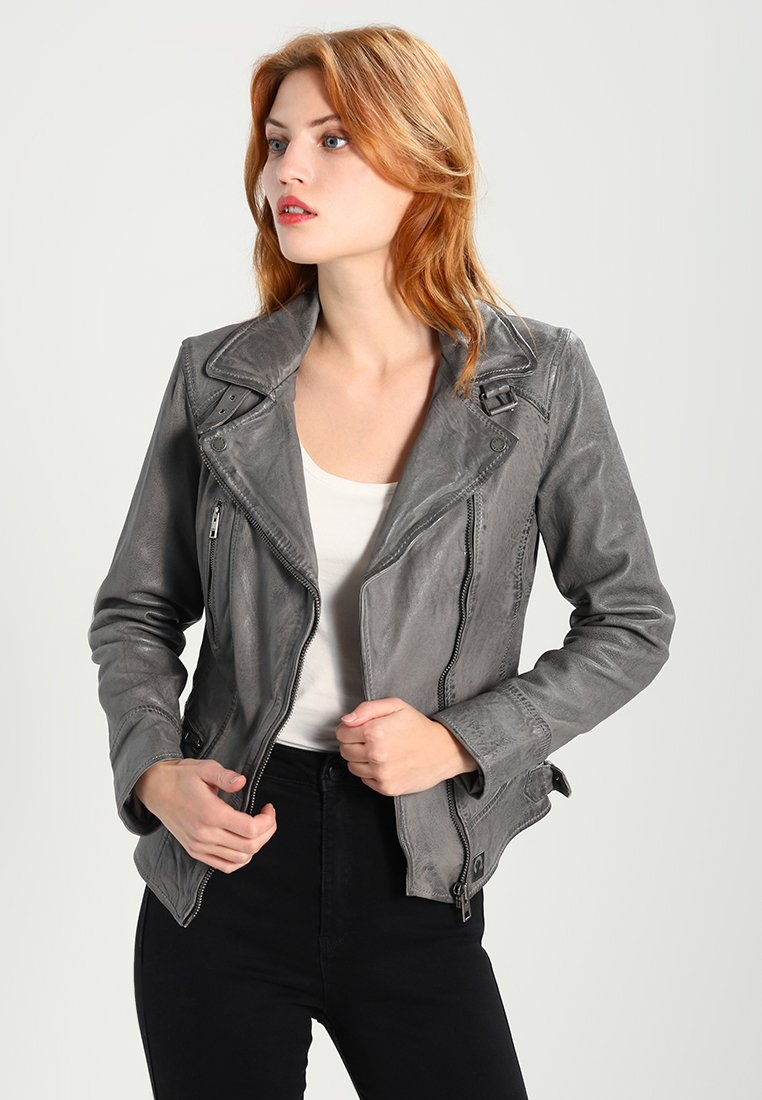 Oakwood - Leather jacket - anthracite