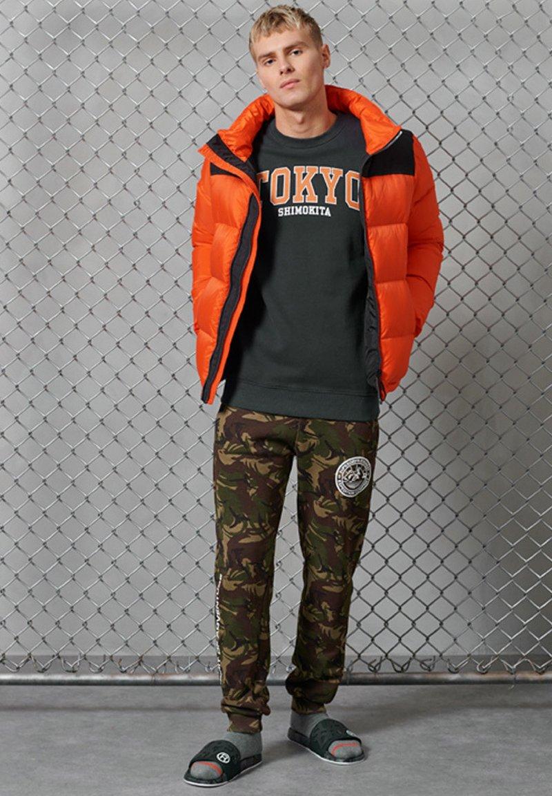 Superdry - CITY COLLEGE - Sweatshirt - washed black