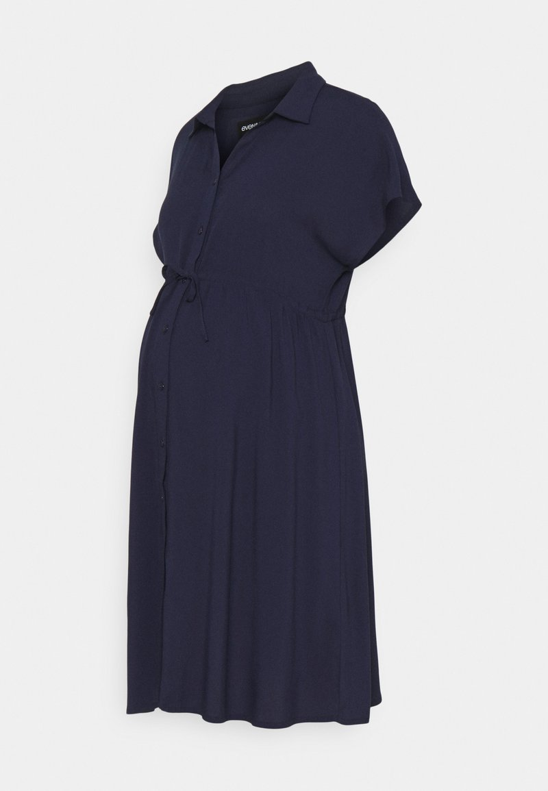 Anna Field MAMA - Shirt dress - blue