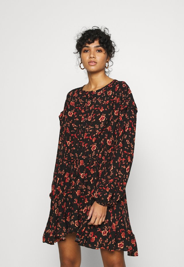FLOWER FIELDS MINI - Vestido informal - dark combo