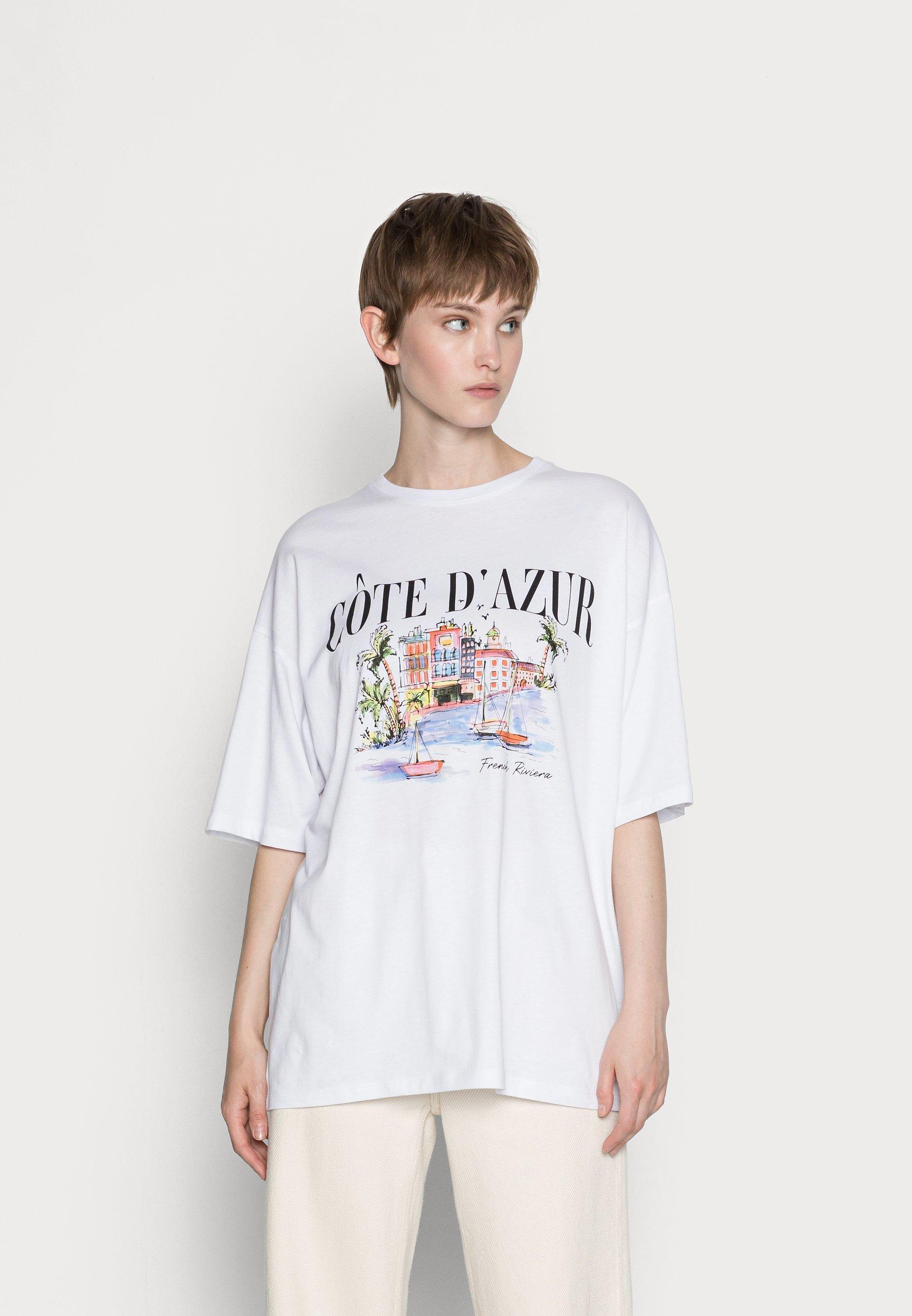 Women LIZ CÔTE D'AZUR WATERCOLOR TEE - Print T-shirt