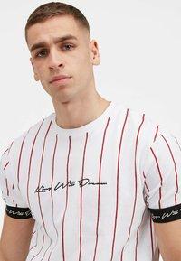 Kings Will Dream - CLIFTON - Print T-shirt - white / red - 3
