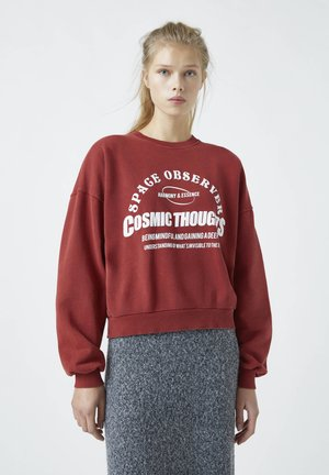 Sweatshirt - mottled red
