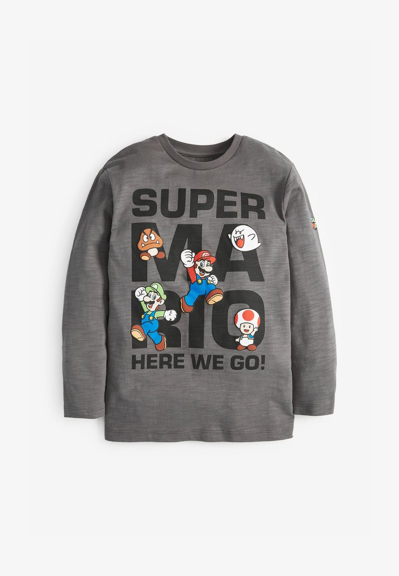 Next - MARIO LONG SLEEVE T-SHIRT - Long sleeved top - grey