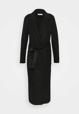 DOUBLE FACE LONG WRAP - Trench - black