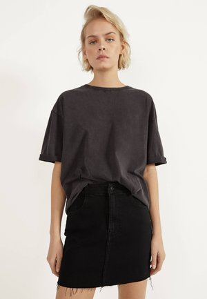 KURZER DENIM-ROCK 00644534 - A-line skirt - black