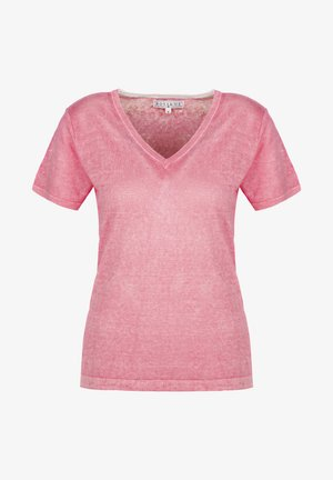 Print T-shirt - pink lemon