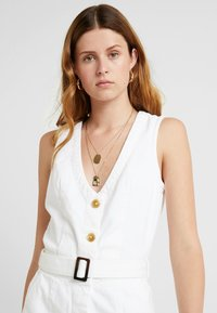 Missguided Tall - BELTED BUTTON THROUGH DRESS - Dongerikjole - white - 3