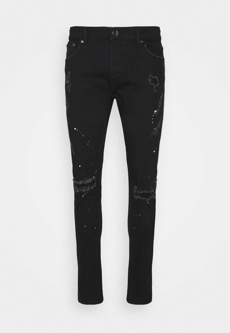 CLOSURE London - SPLATTER - Jeans Skinny Fit - black