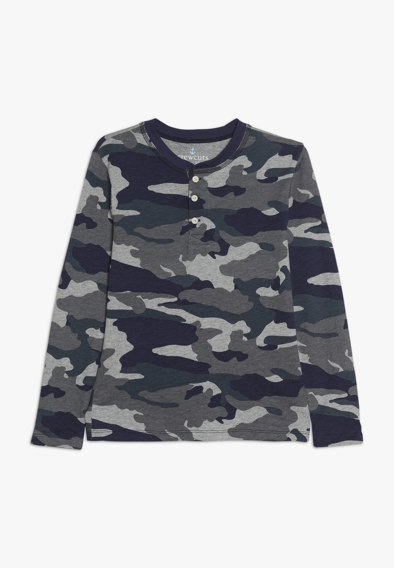 J.CREW - CAMO HENLEY - Long sleeved top - heather slate
