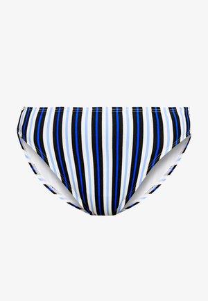 MARINE STRIPE HIGH WAISTED BOTTOM - Bikini bottoms - black/multi