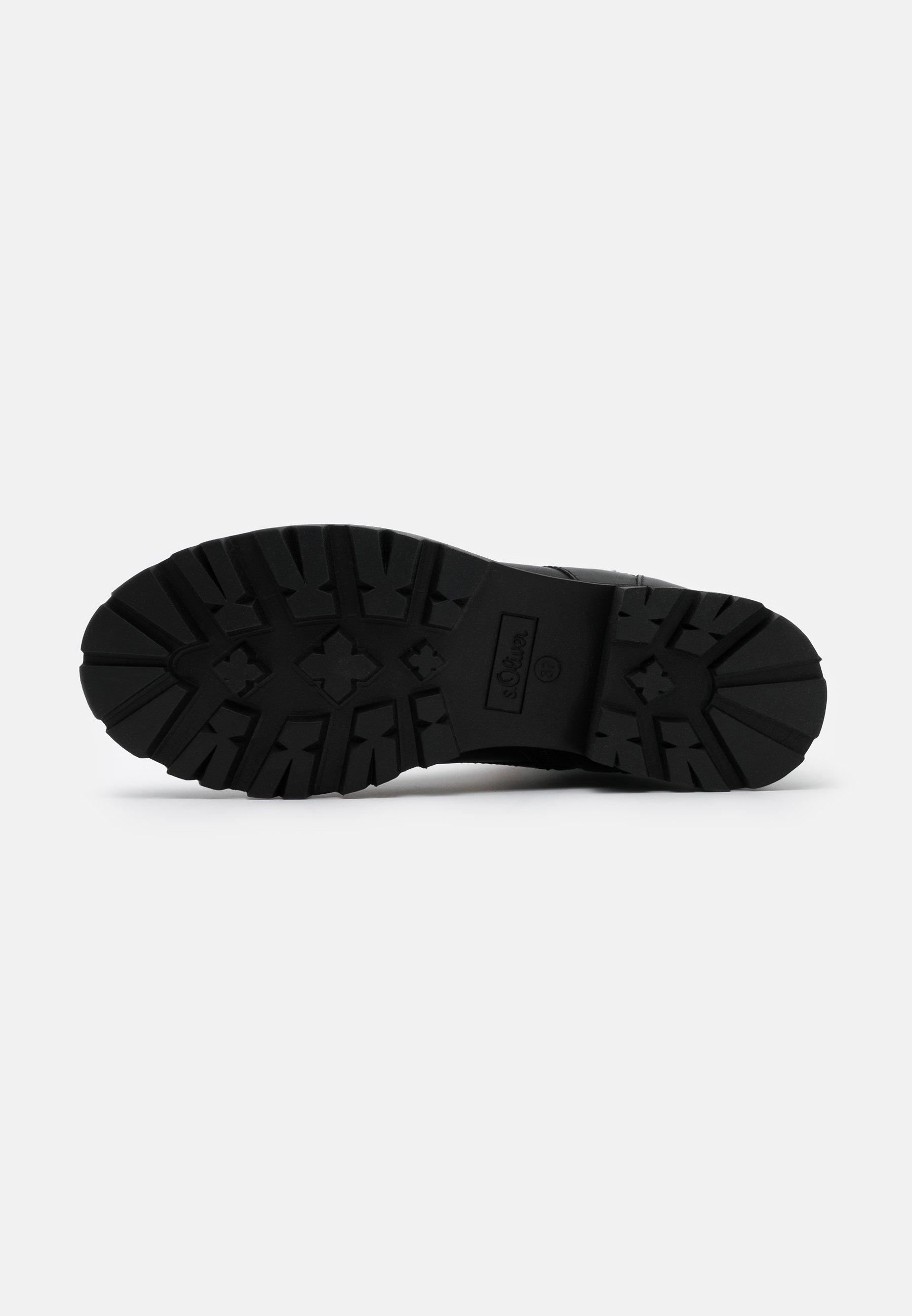 S.oliver Boots - Schnürstiefelette Black/schwarz
