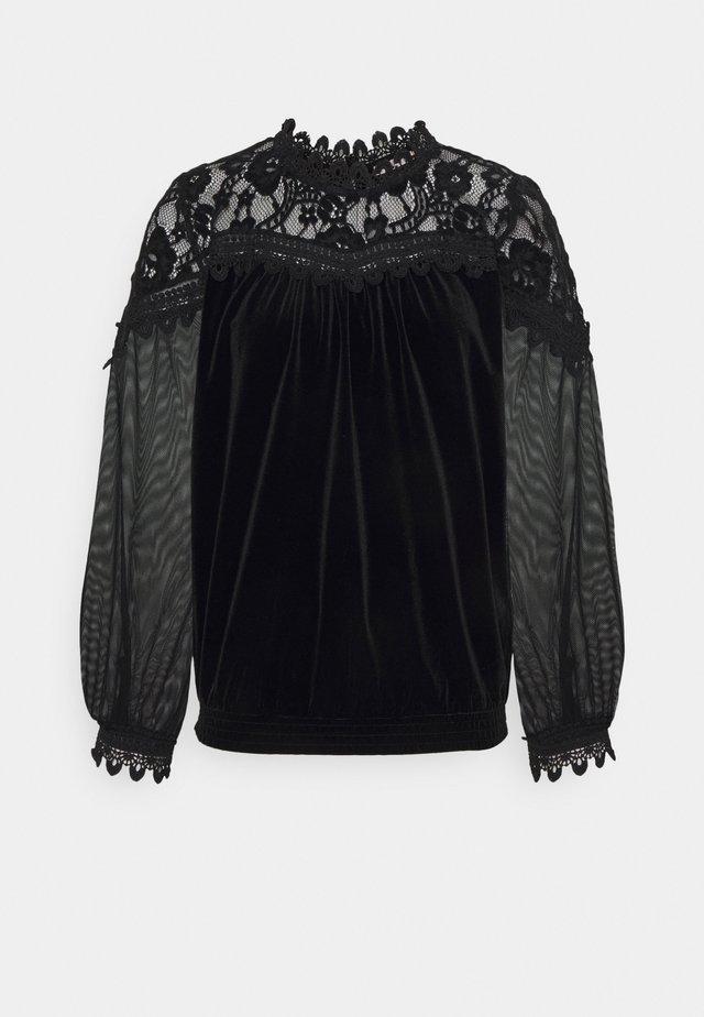 BLOUSE - Langærmede T-shirts - black