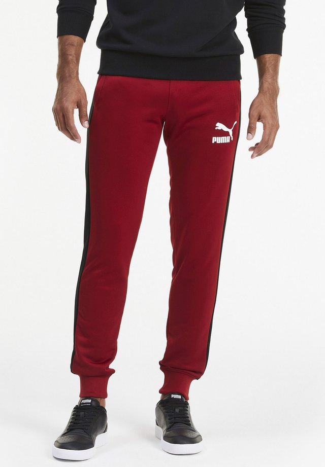 ICONIC  - Tracksuit bottoms - red dahlia