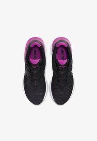 Nike Performance - RENEW RUN - Neutral running shoes - black/white/fire pink/metallic dark grey - 1