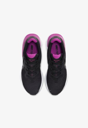 RENEW RUN - Neutral running shoes - black/white/fire pink/metallic dark grey