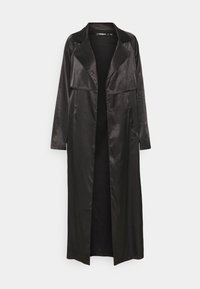 MAXI TRENCH JACKET - Classic coat - black