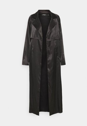 MAXI TRENCH JACKET - Classic coat - black