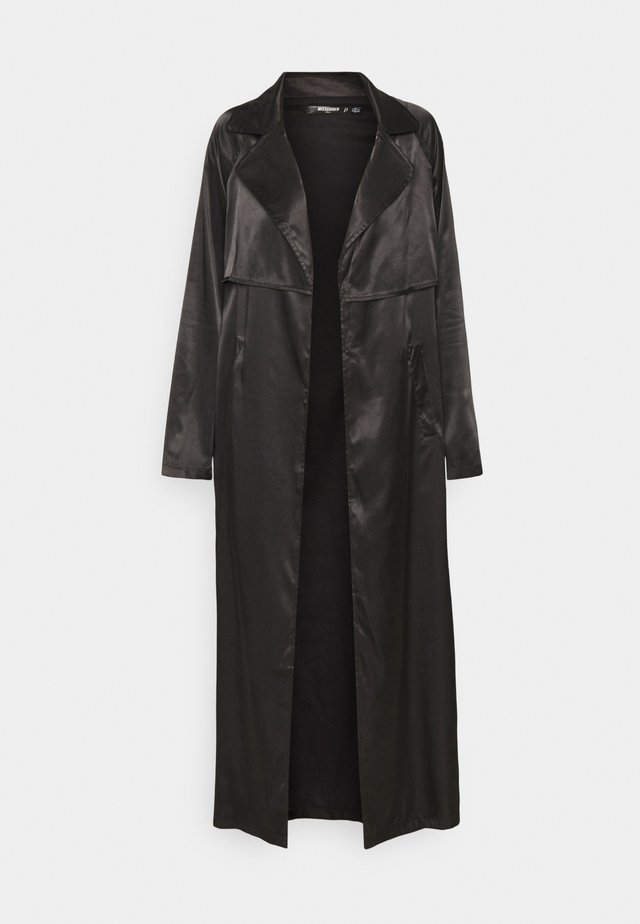 MAXI TRENCH JACKET - Klassisk frakke - black