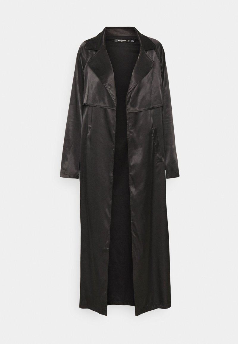 Missguided Tall - MAXI TRENCH JACKET - Classic coat - black