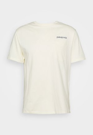 ROAD TO REGENERATIVE POCKET TEE - Triko s potiskem - white wash