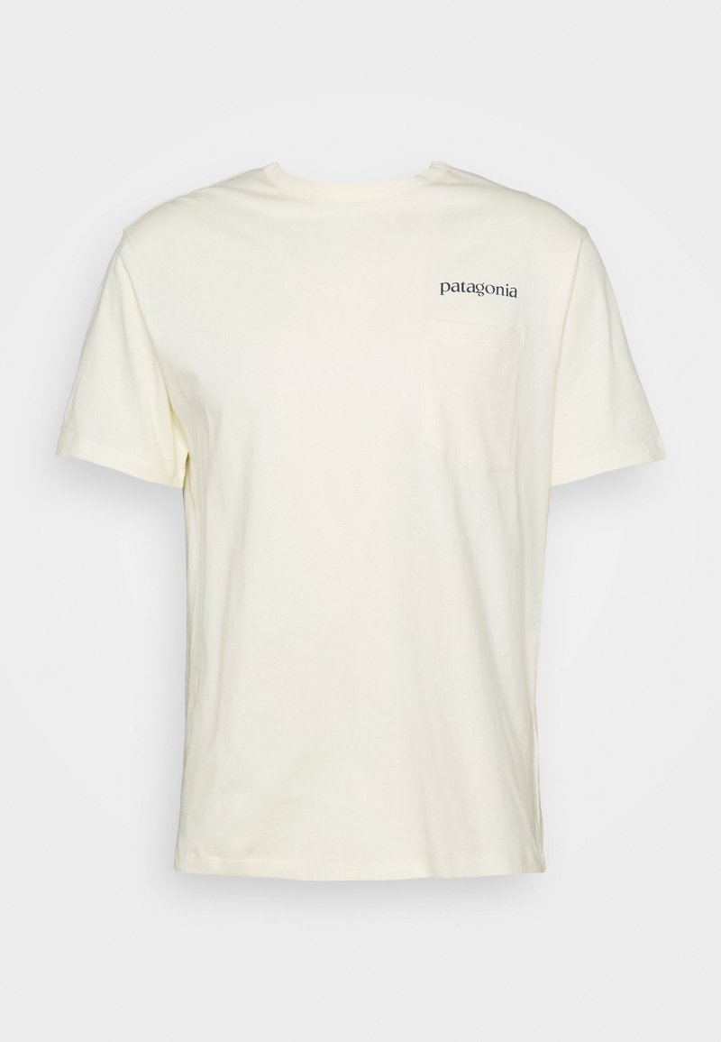 Patagonia - ROAD TO REGENERATIVE POCKET TEE - Print T-shirt - white wash