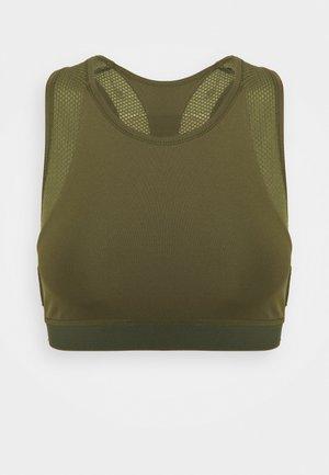 Light support sports bra - olive