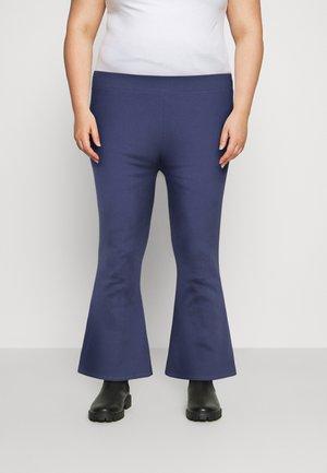 HIGH WAIST FLARE LEGGINGS - Kalhoty - dark blue