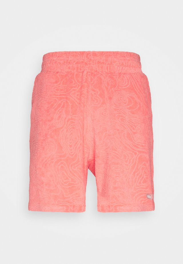 TOPOS SHAVED TERRY - Short - neon coral