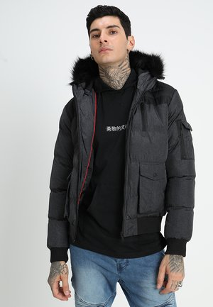 GIOVANNI - Winter jacket - black/grey