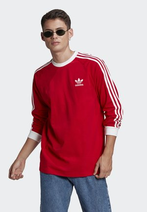 ADICOLOR CLASSICS 3-STRIPES LONG SLEEVE TEE - Long sleeved top - scarlet