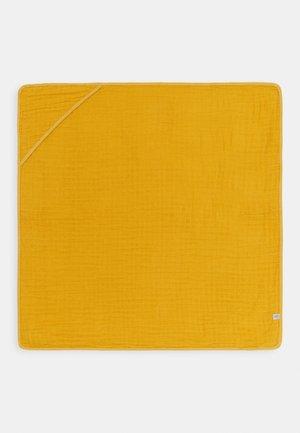 MUSLIN HOODED TOWEL - Telo mare - yellow
