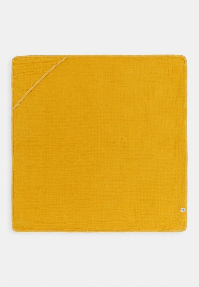 MUSLIN HOODED TOWEL - Strandhanddoek - yellow