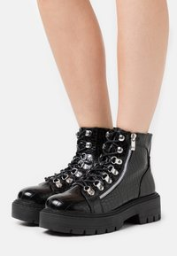 Glamorous Wide Fit - Snørestøvletter - black - 0