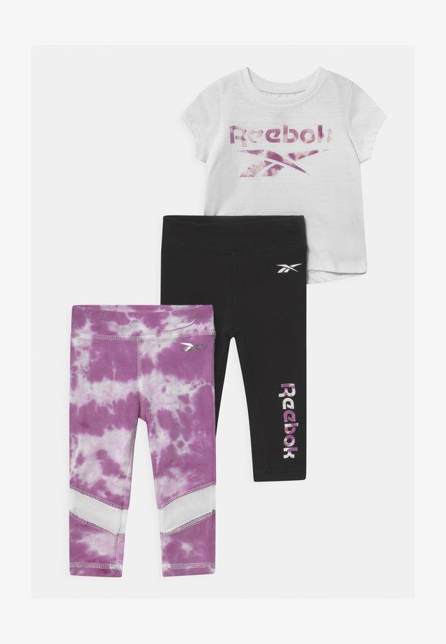 SET - Print T-shirt - purple/black/white