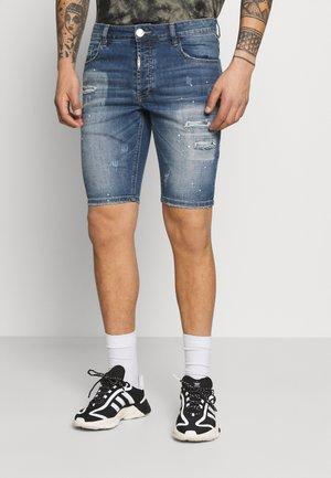 ZIPOLLO  - Denim shorts - mid blue