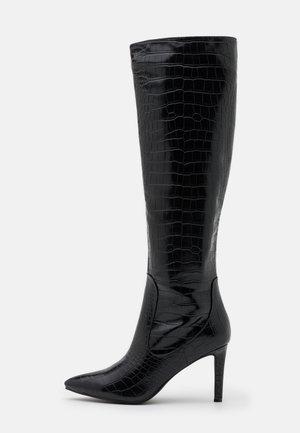TRIBUTE - Kozačky na vysokém podpatku - black