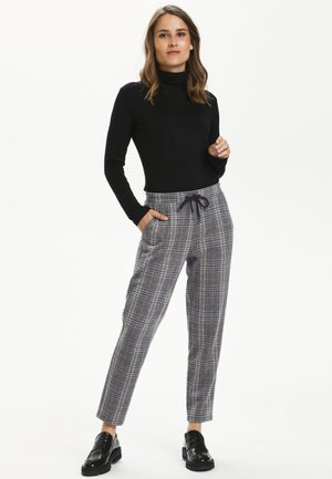 Trousers - grey/blue check