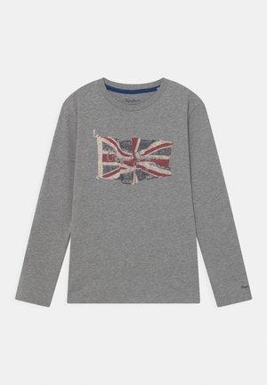 FLAG LOGO JR - Long sleeved top - grey marl