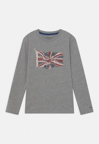 FLAG LOGO JR - Maglietta a manica lunga - grey marl