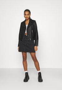 Levi's® - DECON ICONIC SKIRT - Mini skirt - dark gossip - 1