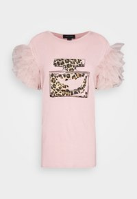 New Look - PERFUME RUFFLE - T-shirt z nadrukiem - light pink - 4
